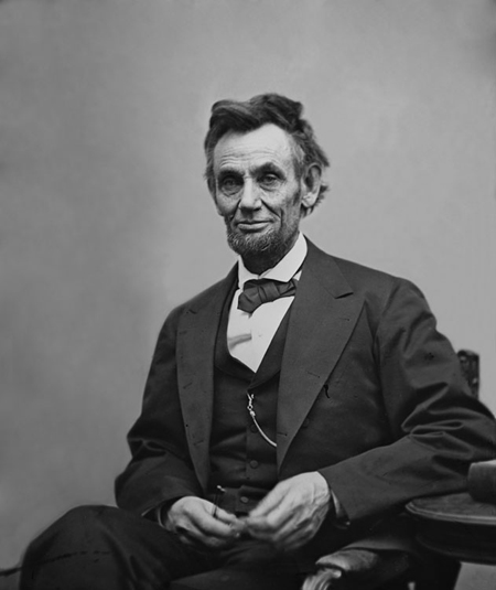 Alexander Gardner's photo of Lincoln, April 10, 1865, Library of Congress