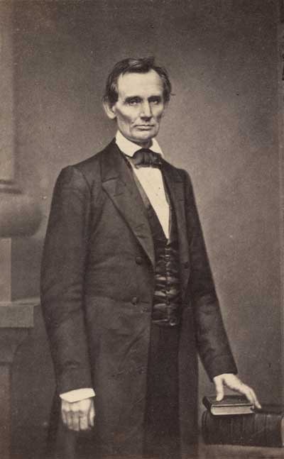 Mathew Brady photo of Lincoln, Feb 27, 1860. National Portrait Gallery, Smithsonian