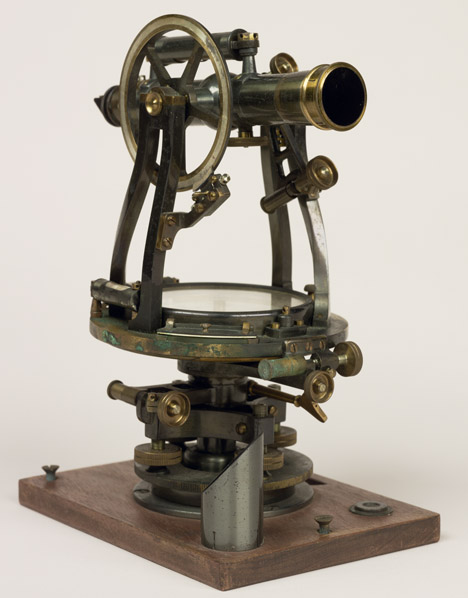 Robert Peary's theodolite, which he carried on his Polar expeditions. (Peary Family Collection (401-1) Donated Materials in the National Archives)