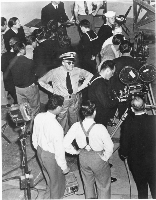 Director John Ford on the set of his movie, December 7th (1942, RG 80.MN.2862)