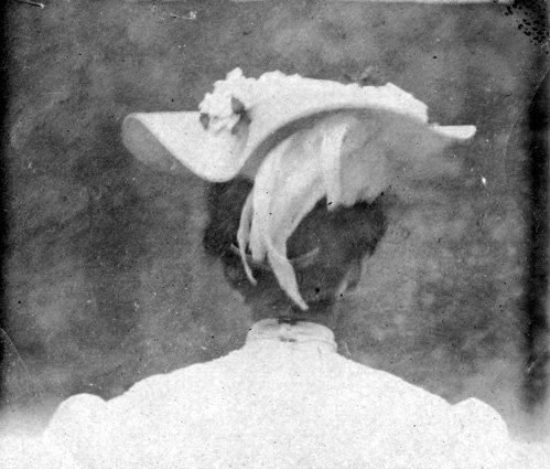 Bess Truman's hat, 1906. (Truman Library)
