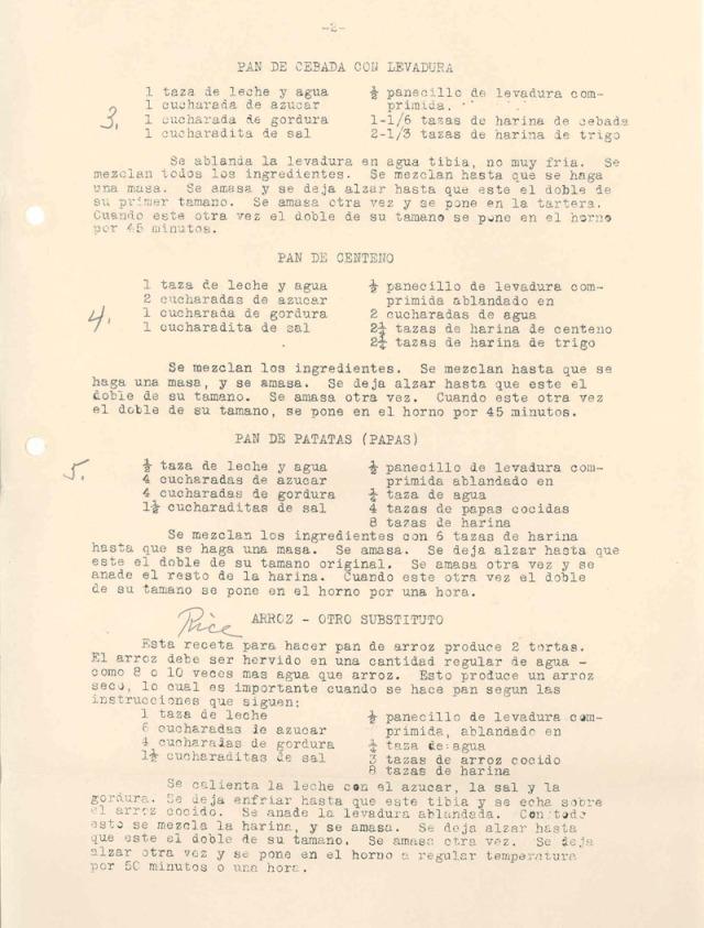 """recipies for """"pan de la libertad"""""""