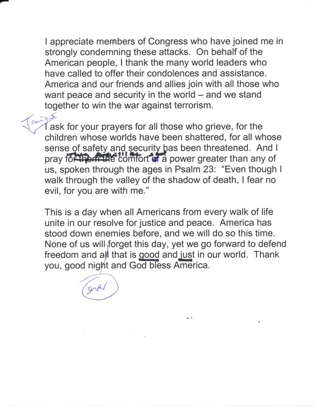 page 3 of Bush's 9/11 speech