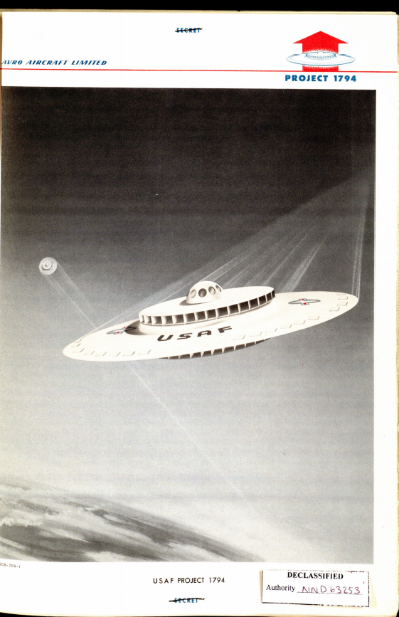 The cover of USAF Project 1794.