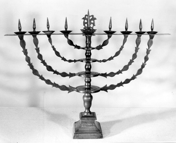 1.Menorah presented to Harry S. Truman by Prime Minister David Ben-Gurion of Israel on May 8, 1951.  Currently on display at the Harry S. Truman Presidential Library and Museum in Independence, MO.