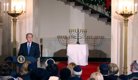 9_GWB_with-Truman-Menorah