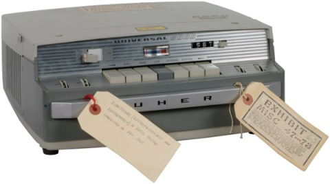 "This item is a tape recorder that was operated by President Richard Nixon's White House secretary Rosemary Woods as part of the Nixon White House taping system. Wood used this recorder to create the tape of June 20, 1970, containing the infamous ""18 1/2 minute gap."""