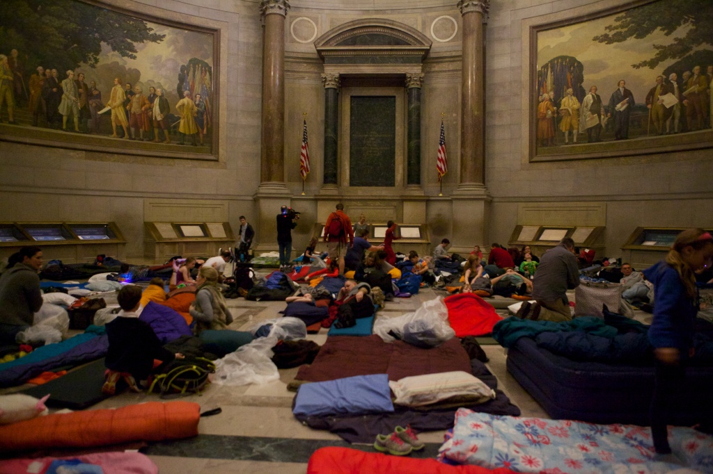NARA and the Foundation for the National Archives will be hosting Rotunda sleepovers in August and October. Space is limited, so be sure to sign up if you're interested in attending!