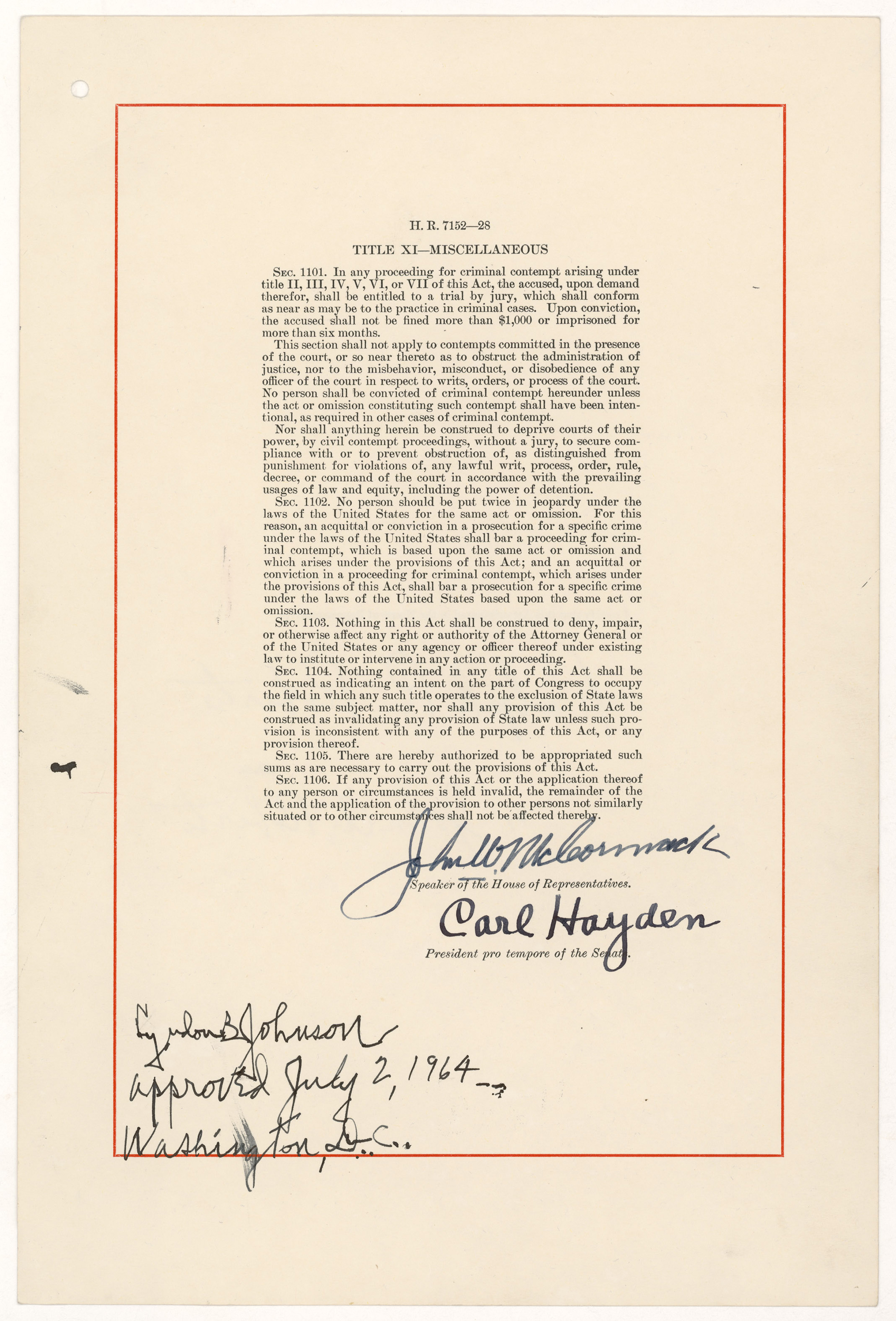 a history of the civil rights act of 1964 The civil rights act of 1964 the civil rights movement deeply affected american society among its most important achievements were two major civil rights laws passed by congress.