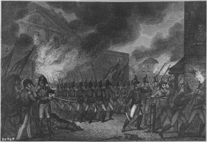 """""""Capture of the City of Washington,"""" August 1814. (National Archives Identifier 531090)"""