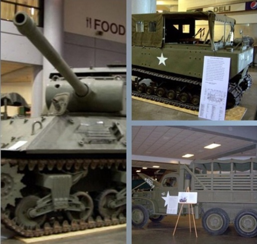 Some of the military equipment on display at the Eisenhower Presidential Library. Photo from @IkeLibrary on Instagram.