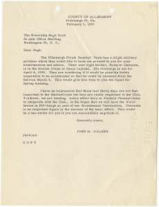 Letter from Former State Senator John M. Walker to United States Senator Hugh Scott National Archives Identifier: 7329775
