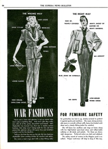 Women's Work Safety Fashion Bulletin, October 1942. (National Archives at Atlanta)