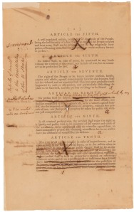 Senate Revisions to the Proposed Bill of Rights, page 2, 9/9/1789. (National Archives Identifier 3535588)