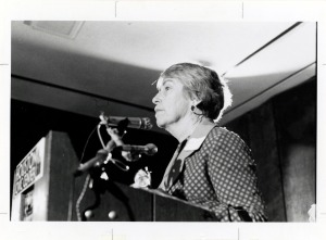 Martha Griffiths at ERA rally in Houston, Texas, 1977. (ARC Identifier 7452294)