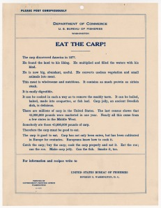 "Poster, ""Eat the Carp!"" 1911. (National Archives Identifier 5710027)"