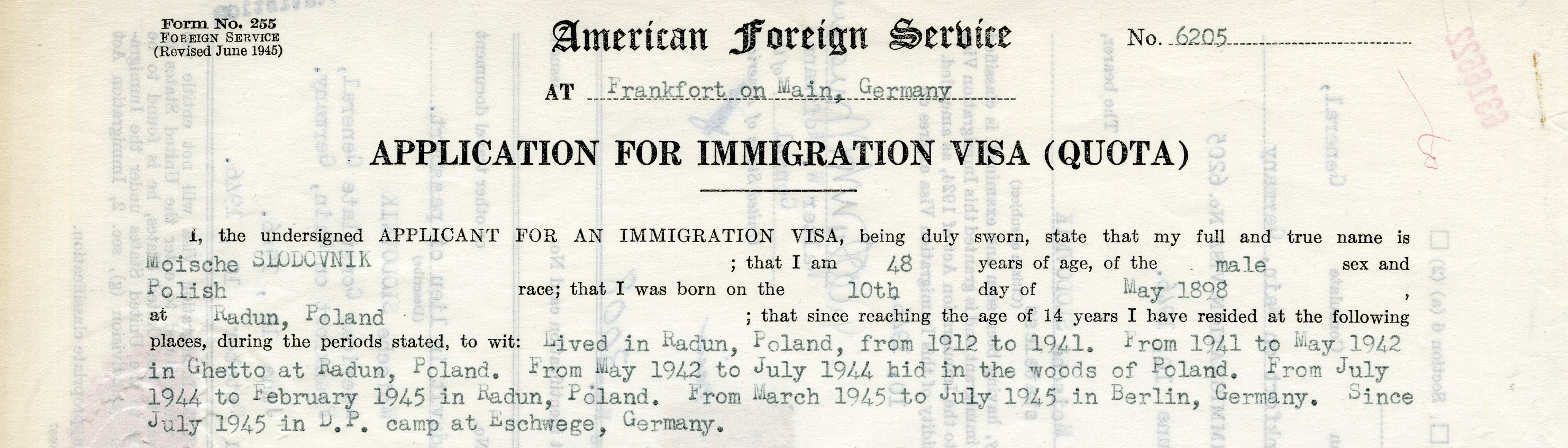 Immigration Records 1970s A Page