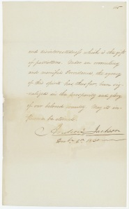 "President Andrew Jackson's Annual Message to Congress ""On Indian Removal,"" December 6, 1830. (National Archives Identifier 5682743)"