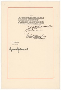 The Voting Rights Act, August 6, 1965 (signature page). (General Records of the U.S. Government, National Archives)