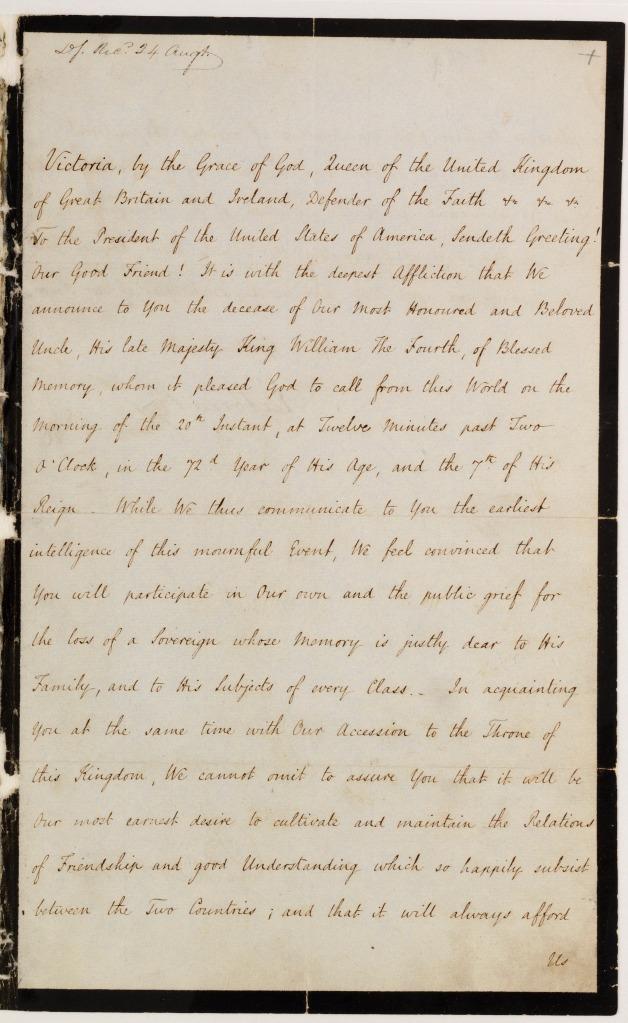 Letter from Victoria R to Martin Van Buren