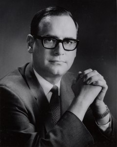 Portrait of James B. Rhoads, Fifth Archivist of the United States, ca. 1968. (National Archives Identifier 7368465)