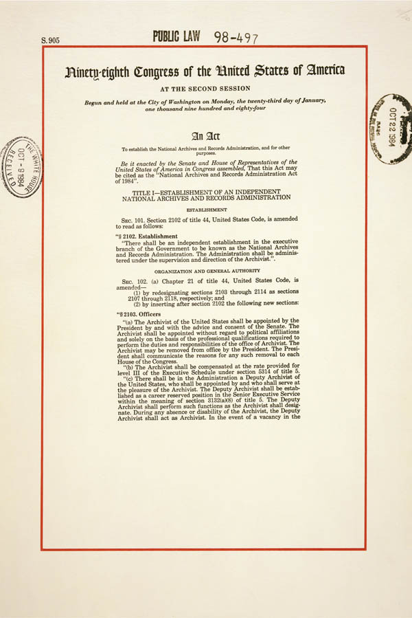 an analysis of the national archives in the us government Regulations from government on the management of records were central to the 1986 act but have never been issued the digital age demands them the policies and plans proposed by the director and staff of the national archives can then begin to address this gap and move us towards coherent and.