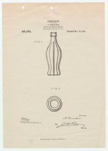 Original Coke Bottle Patent,  November 16, 1915. (Records of the Patent and Trademark Office, National Archives)