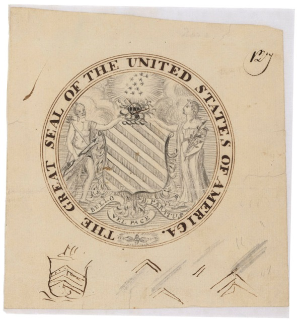 Francis Hopkinson's First Observe Design, 1780. (National Archives Identifier 595254)