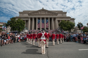 The Fife and Drum Corps perform at the National Archives on July 4, 12013. (Photo by Jules Clifford)