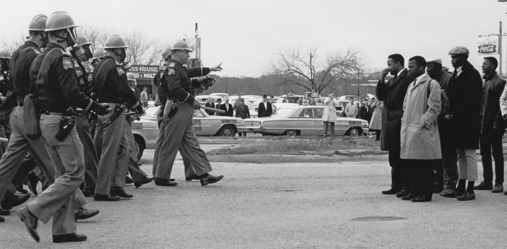 Photograph of the Two Minute Warning on Bloody Sunday, March 7, 1965. (National Archives Identifier 16899041)