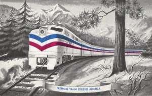 A souvenir postcard from the Freedom Train. (National Archives Identifier 18520032)