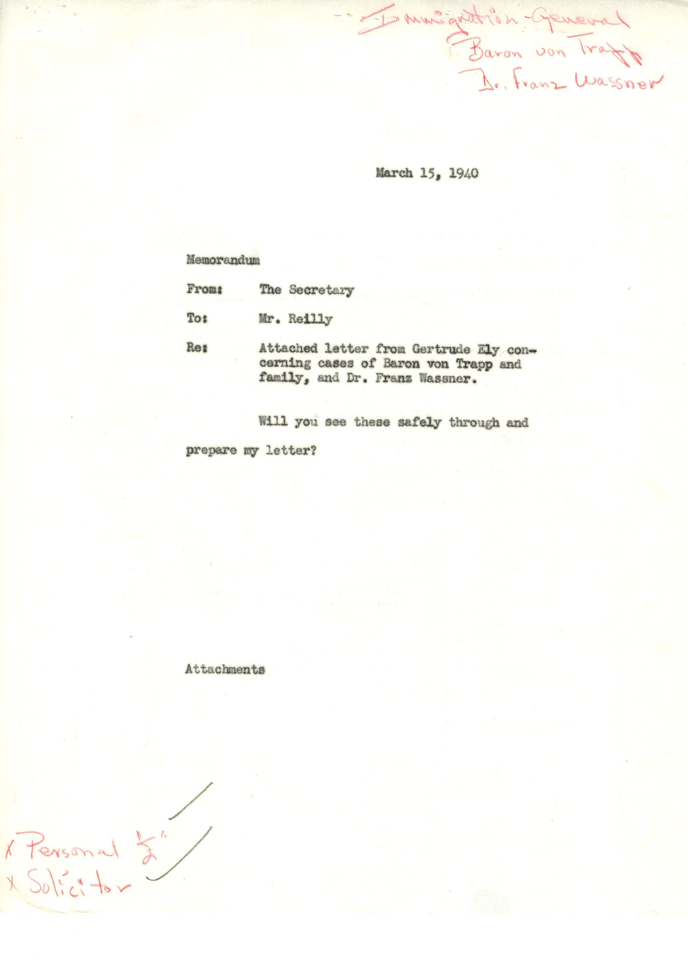 Immigration Records 1970s Box Folder