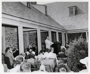 FDR speaking at the dedication of the FDR Library and Museum in Hyde Park, NY, June 30, 1941. (FDR Library, National Archives)