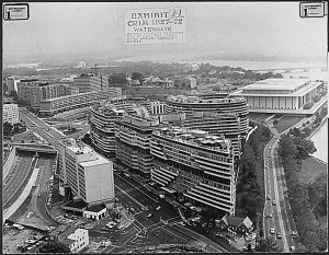 Watergate Government Exhibit One: Photograph of the Watergate Complex. (National Archives Identifier 304965)