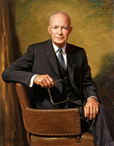 Portrait of Dwight Eisenhower  which hangs in the Eisenhower Library in Abilene, Kansas. (Eisenhower Library)