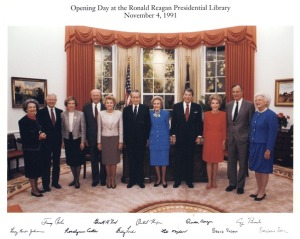 Former Presidents and First Ladies at Reagan Library Opening, November 4, 1991 (Harry S. Truman Presidential Library, National Archives)