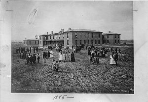 Albuquerque Indian School in 1885, Relocated from Duranes to Albuquerque in 1881 (National Archives Identifier 292865)