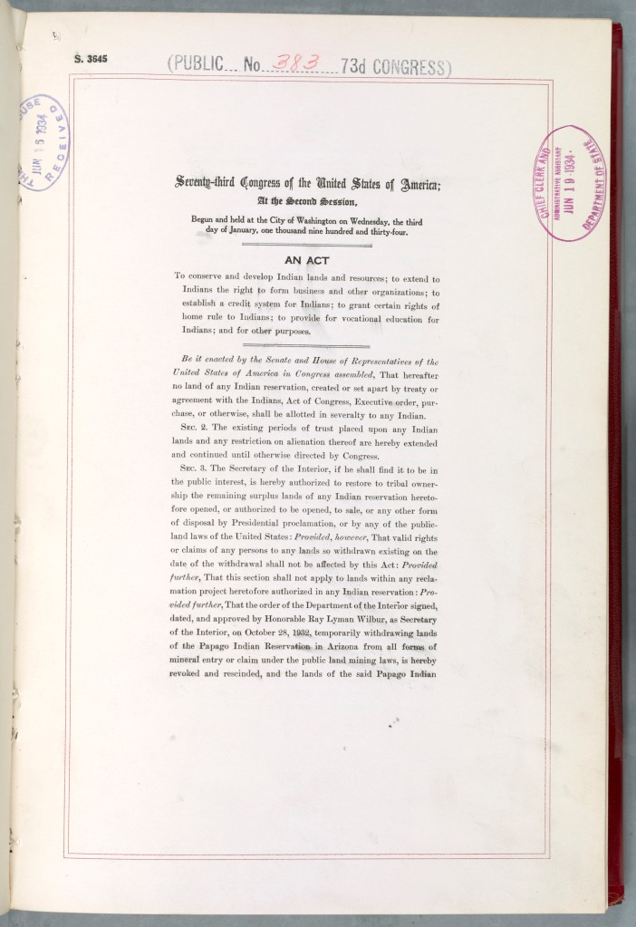 indian reorganization act Looking for indian reorganization act find out information about indian  reorganization act legislation passed in 1934 in the united states in an attempt  to.