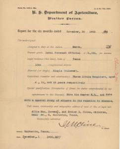 Weather Bureau Report, November 30, 1900. (National Archives at St. Louis)