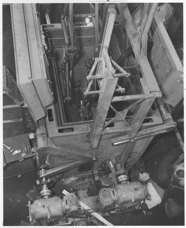 Mosler safe being constructed, 1952. (National Archives Identifier 12167793)