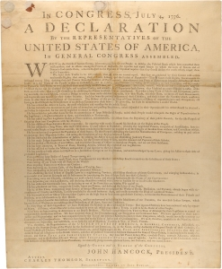 Declaration of Independence, Dunlap Broadside1776 00301_2000_001