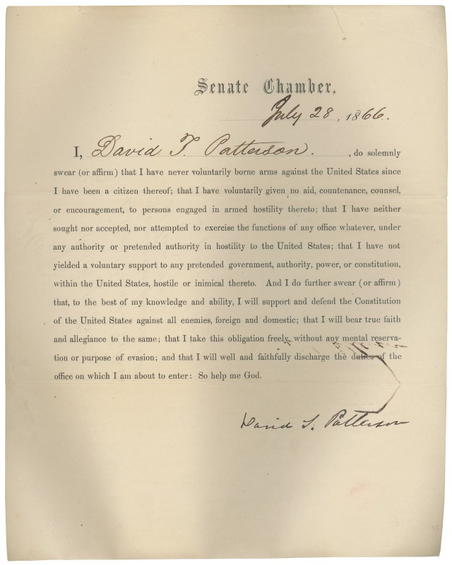 David_Patterson_oath_of_office_7-28-1866