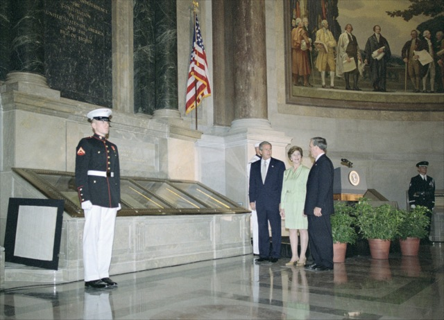 Rededication Ceremony with President Bush