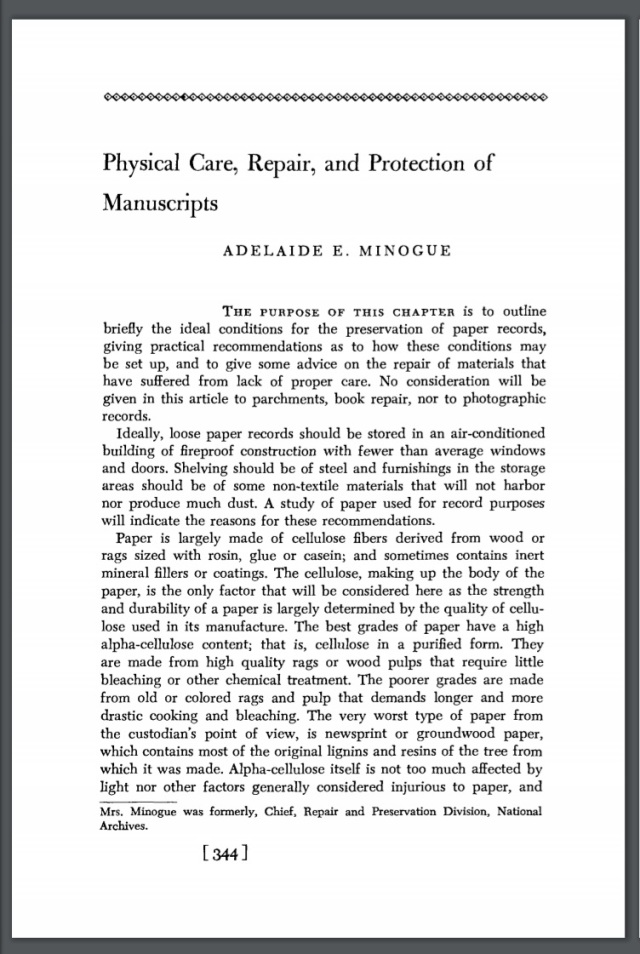 Article Physical Care, Repair, and Protection of Manuscripts
