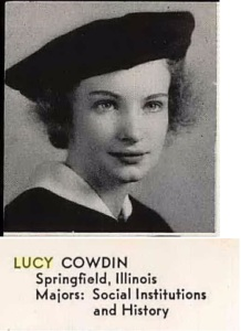 Lucy Cowdin Senior Photo, 1938 - Mills College