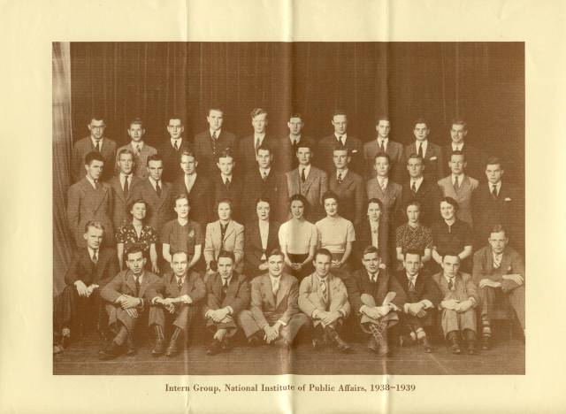 NIPA Interns 1938-1939, from Brochure - RG 64, A1 1, file 77.6 Internships, box 40