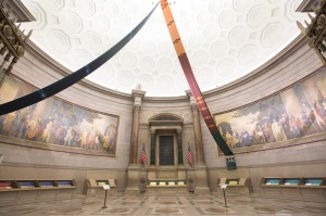 Rotunda of the National Archives in Washington, DC, on July 22, 2016.