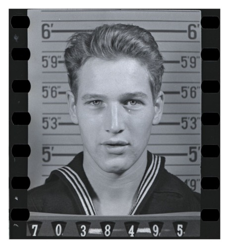 Photo of Paul Newman from his Official Military Personnel File, n.d. (National Archives Identifier 57301072)