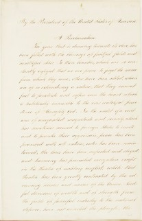 President Abraham Lincoln's Thanksgiving Day Proclamation of October 3, 1863. (National Archives Identifier 299960)