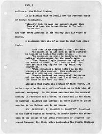 President Franklin Roosevelt's Thanksgiving Proclamation, November 26, 1942. (National Archives Identifier 198021)